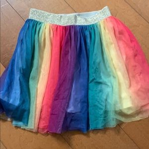 Girls 6/6X OshKosh Bigosh Rainbow Tulle Skirt